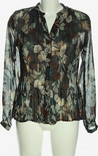 COTTON Club Transparenz-Bluse in S in creme / türkis / braun, Produktansicht