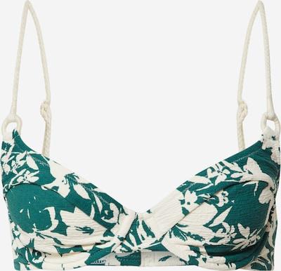 watercult Bikinitop in smaragd / weiß, Produktansicht