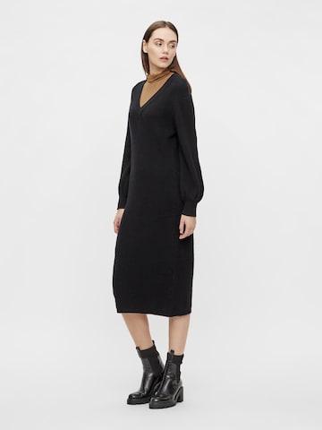 OBJECT Gebreide jurk 'Malena' in Zwart