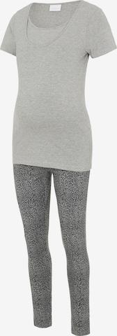 MAMALICIOUS Pyjamas 'Patrine Nell' i grå
