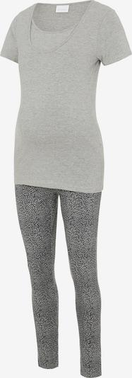 MAMALICIOUS Pyžamo 'Patrine Nell' - sivá / sivá melírovaná / čierna, Produkt
