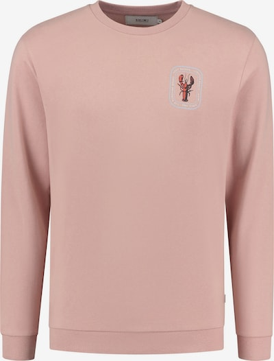 Shiwi Sweatshirt 'Lobster' in azur / altrosa / rot / weiß, Produktansicht