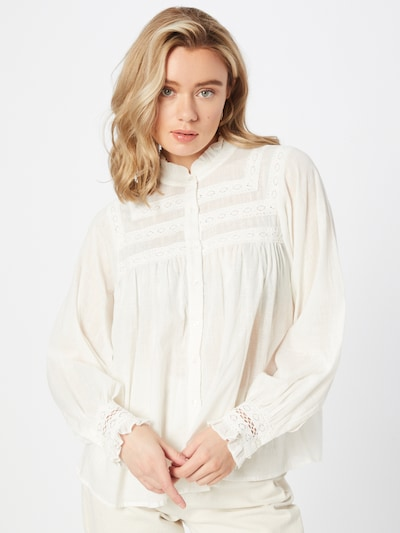 b.young Bluse in offwhite, Modelansicht
