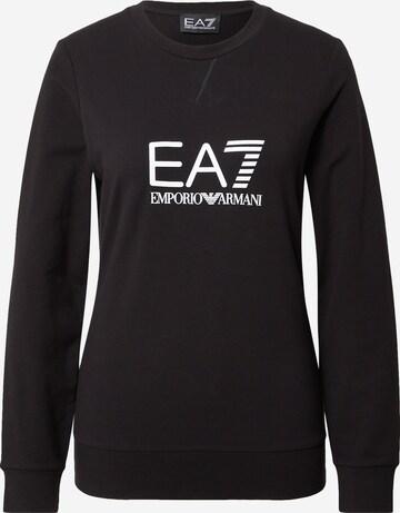 EA7 Emporio Armani Sweatshirt i svart