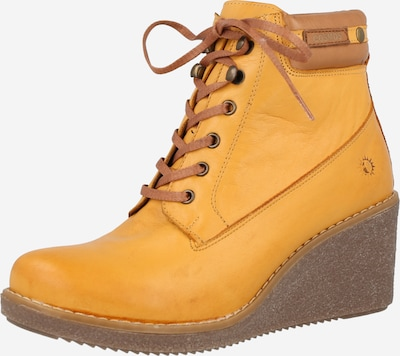 COSMOS COMFORT Lace-Up Ankle Boots in Brown / Yellow, Item view