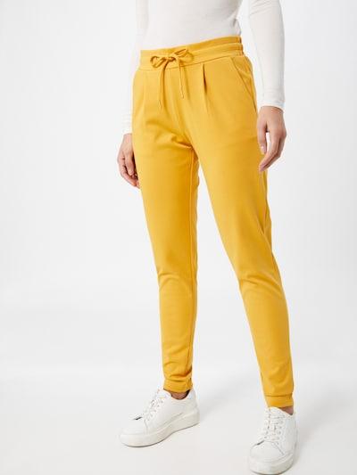 ICHI Hose 'KATE' in gelb, Modelansicht