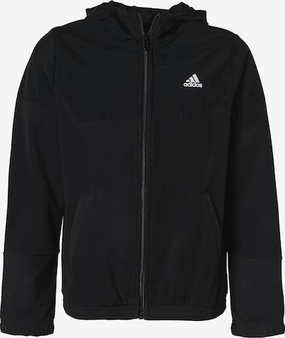 ADIDAS PERFORMANCE Sportsweatjacke 'FAV HDTT' in schwarz / weiß, Produktansicht