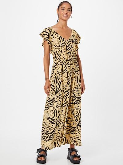 TOM TAILOR DENIM Kleid in beige / schwarz, Modelansicht
