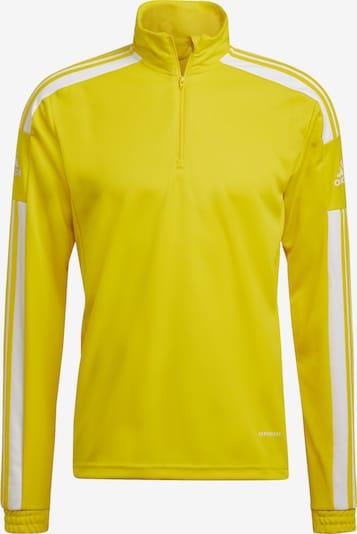 ADIDAS PERFORMANCE Sportsweatshirt in gelb / weiß, Produktansicht