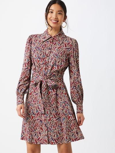 MICHAEL Michael Kors Košeľové šaty - zmiešané farby / vínovo červená, Model/-ka