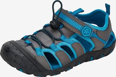 COLOR KIDS Sandale in türkis / anthrazit / schwarz, Produktansicht