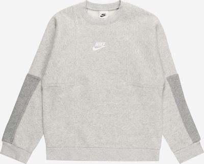 Nike Sportswear Sweatshirt in graumeliert / weiß, Produktansicht