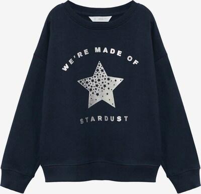 MANGO KIDS Sweatshirt 'DUBLINI' in de kleur Navy / Zilver, Productweergave