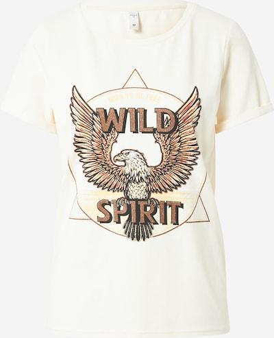 PULZ Jeans T-Shirt 'Gudrun' in braun / schwarz / weiß, Produktansicht