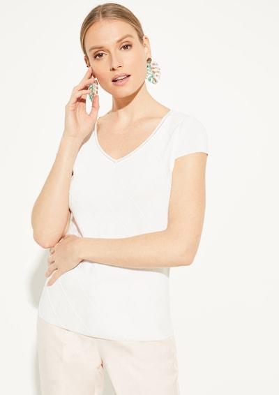 COMMA Feinstrickpulli in weiß, Modelansicht