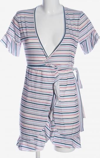 PrettyLittleThing Wickelkleid in L in blau / pink / wollweiß, Produktansicht