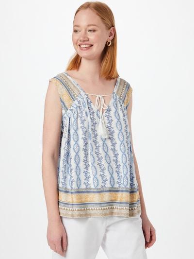 Cream Blusa 'Olina' en beige / azul claro / blanco, Vista del modelo
