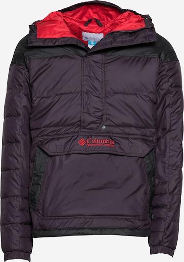 COLUMBIA Outdoorjas in de kleur Pruim / Lichtrood / Zwart, Productweergave