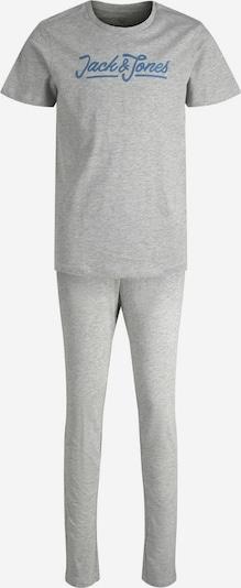 Jack & Jones Junior Schlafanzug in blau / graumeliert, Produktansicht