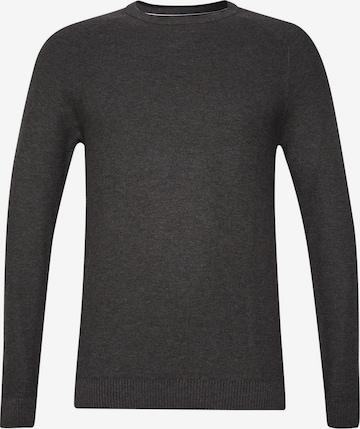 ESPRIT Pullover 'Honeycomb' in Grau