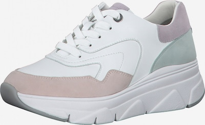 TAMARIS Låg sneaker i mint / lila / puder / vit, Produktvy