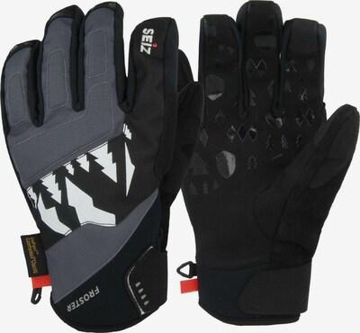 Seiz Handschuhe in grau / schwarz / weiß, Produktansicht