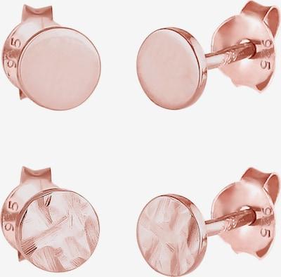 ELLI Boucles d'oreilles en or rose, Vue avec produit