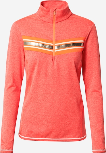 CMP Sweat de sport en or / orange / rouge orangé / blanc, Vue avec produit