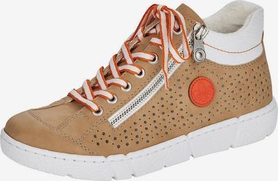 RIEKER Baskets hautes en marron / blanc, Vue avec produit