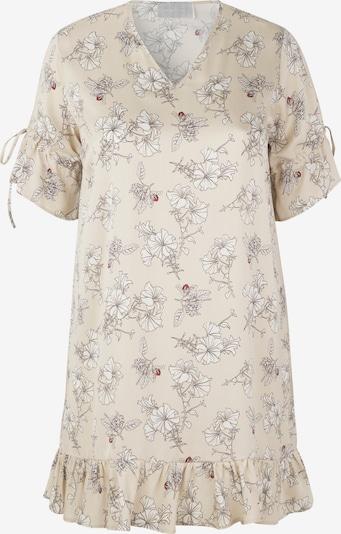 INAN ISIK Seidenkleid 'Rosa' in beige, Produktansicht