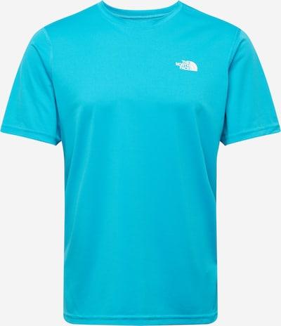 THE NORTH FACE Camiseta funcional en turquesa / blanco, Vista del producto