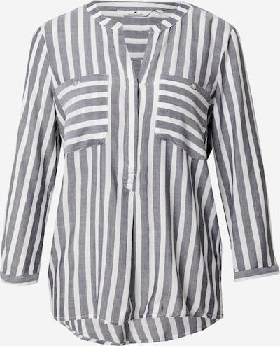 TOM TAILOR Bluza | svetlo siva / off-bela barva, Prikaz izdelka