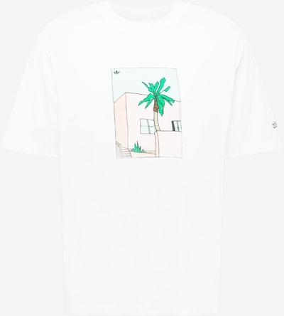 ADIDAS ORIGINALS Tričko 'HAND DRAWN' - svetlomodrá / zelená / svetloružová / čierna / biela, Produkt