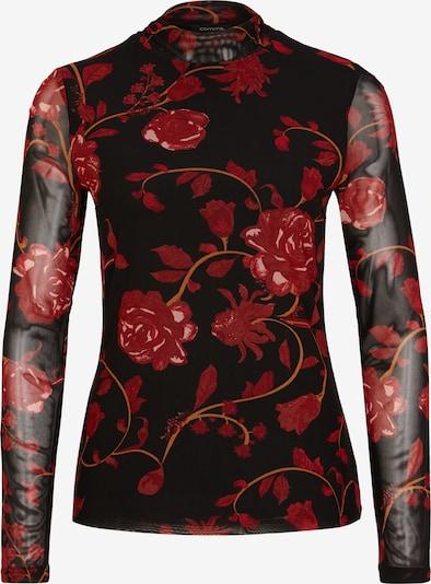 COMMA T-shirt i röd / svart, Produktvy