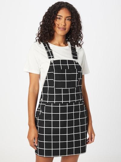 Salopetă rochie scurtă Obey pe negru / alb, Vizualizare model