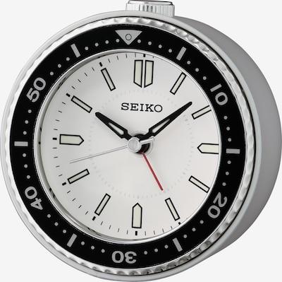 SEIKO Wecker in schwarz / silber / weiß, Produktansicht