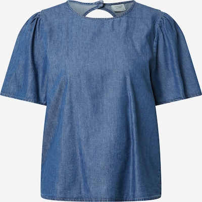 JDY Bluse 'BIANKA' in blue denim, Produktansicht