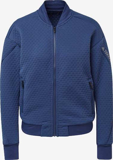 ADIDAS PERFORMANCE Functionele fleece jas in de kleur Duifblauw / Wit, Productweergave