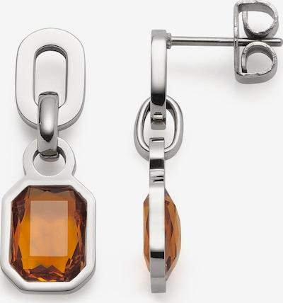 LEONARDO Earrings in Grey / Orange, Item view