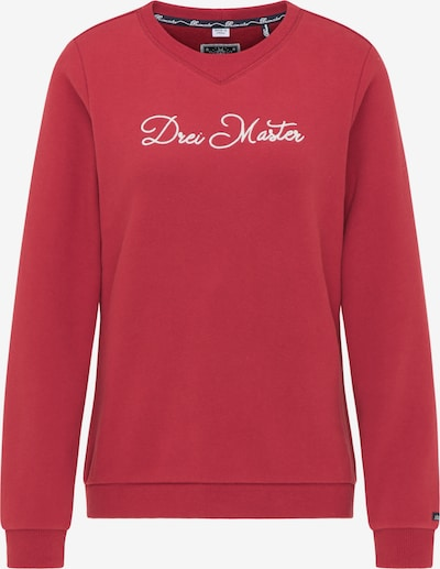 DreiMaster Maritim Sweatshirt in pastellrot / weiß, Produktansicht