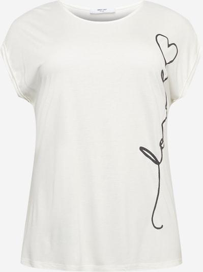 ABOUT YOU Curvy T-Krekls 'Maja', krāsa - melns / balts, Preces skats