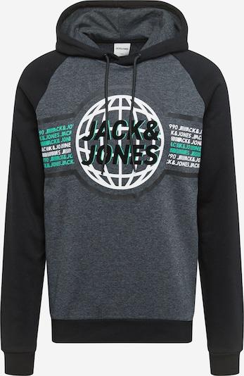 JACK & JONES Hoodie in jade / schwarz / weiß, Produktansicht