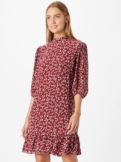 The Kooples Kleid in weinrot / weiß, Modelansicht