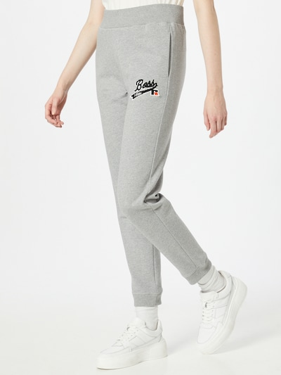 BOSS Pants 'C_Ejoy_Russell Athletics' in mottled grey / Red / Black / White, View model