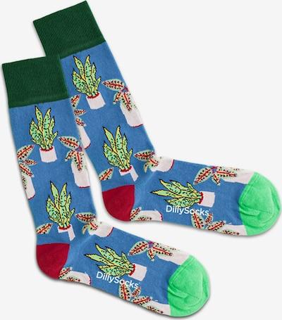 DillySocks Socken  'Sea Pottery' in himmelblau / gelb / grün / mischfarben, Produktansicht
