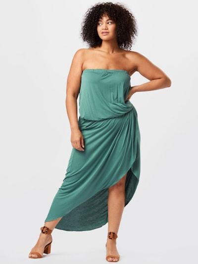 Rochie Urban Classics Curvy pe verde jad, Vizualizare model
