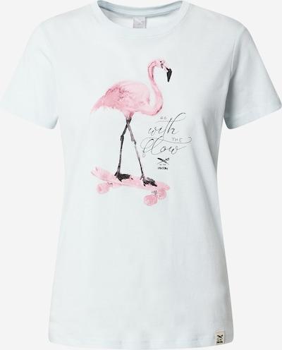 Iriedaily T-shirt 'Flowmingo' en bleu clair / rose, Vue avec produit