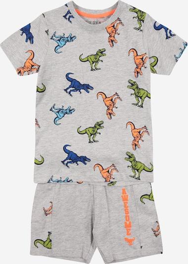 BLUE SEVEN Set: T-Shirt + Shorts in hellblau / dunkelblau / hellgrau / grün / lachs, Produktansicht