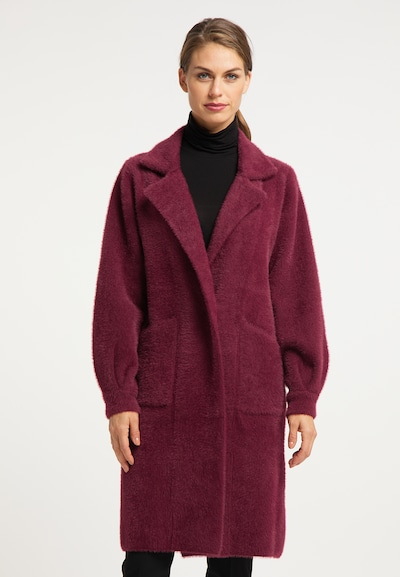 usha BLACK LABEL Between-Seasons Coat in Wine red, View model