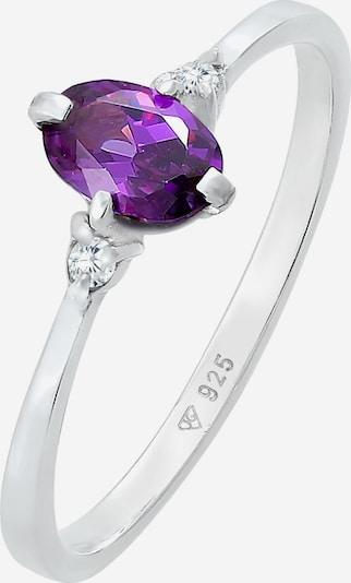 ELLI Ring in de kleur Lila / Zilver, Productweergave